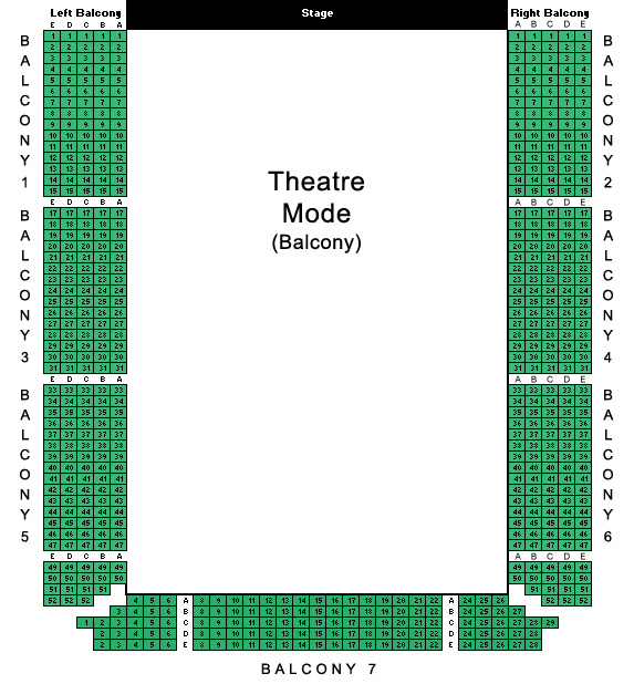 Centennial Hall Theatre Mode Balcony Seating Plan